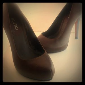 Aldo heels Genuine Leather